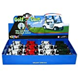 12 pcs in Box: 4½'' Die-cast Metal Golf Cart (Green/Red/White)