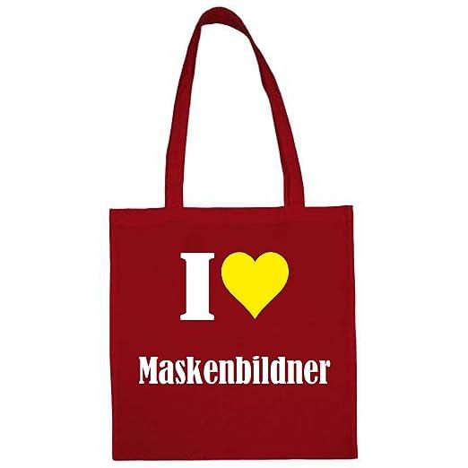 171701f425d62 Tasche I Love Maskenbildner Größe 38x42 Farbe Natur Druck Schwarz   Amazon.de  Koffer
