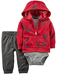 Carter's Baby Boys Cardigan Sets, Red, NB