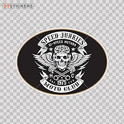 Vinyl stickers decal speed junkies moto club sign for helmet waterproof 8 x 5