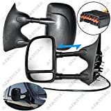 Scitoo For 99-07 Ford F250 F350 Power Heated Telescopic Black View Mirror Pair Set Left Driver Right Passenger Side 61095-96f