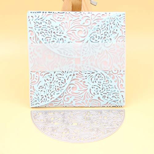 (Flourish Card Wrap Metal Cut Cutting Dies Mold Tool Stencils for Handmade DIY Craft Scrapbooking/Photo Album Decorative Embossing Paper Cards)