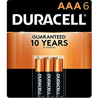 Duracell - CopperTop AAA Alkaline Batteries - long lasting, all-purpose Double A battery for household and business - 6 Count