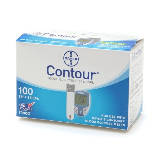 Bayer Contour Blood Glucose, 100 Test Strips by Bayer