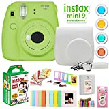 Fujifilm Instax Mini 9 Instant Camera w/Deco Gear Accessories & Film (Lime Green)