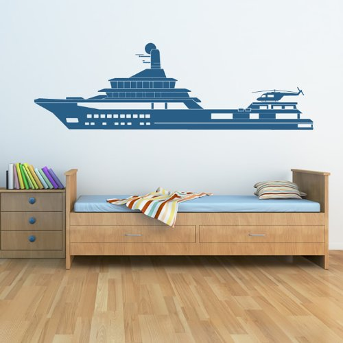 Navy War Ship Simple Print Boats Wall Stickers Bathroom Home Decor - Decals for boats uk