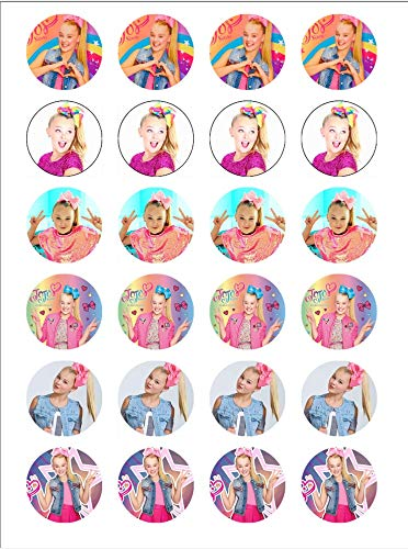 Jojo Siwa ~ Two Dozen ~ Cupcake Topper ~ Edible Frosting Image ~ Oreo Topper ~ Wafer