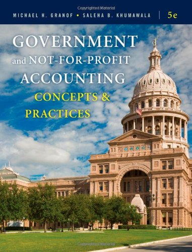 Pdf Business Government and Not-for-Profit Accounting: Concepts and Practices
