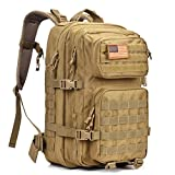 Military Tactical Backpack Large Army 3 Day Assault Pack Molle Bug Out Bag Backpack Rucksacks for Outdoor Hiking Camping Trekking Hunting Khaki