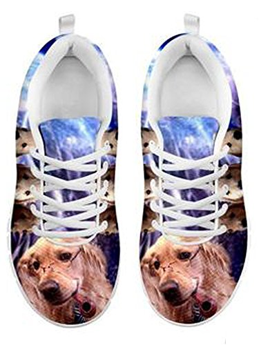 Print Golden Cute 6 Casual Dog Retriever Sneakers Brand Men's wqdnIHw5