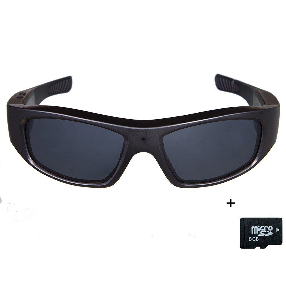 a707975e493 Sunglasses with Camera HD 720P Video Recording Glasses with 8GB SD Card  Black  Amazon.ca  Camera   Photo