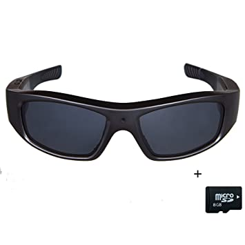addc925bf6 Image Unavailable. Image not available for. Colour  Sunglasses with Camera  HD 720P Video Recording Glasses with 8GB SD ...