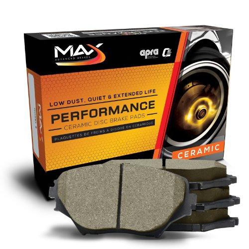 Max KT074952 [Rear-Axle Set] Performance Ceramic Disc Brake Pads