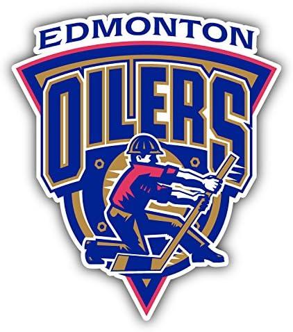 hotprint Oilers Hockey Edmonton Logo Car Bumper Sticker Decal 4 X 5
