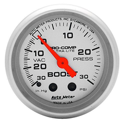 Auto Meter 4303 Ultra-Lite Mechanical Boost/Vacuum Gauge - Mechanical Boost