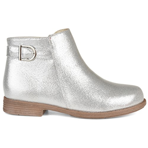 Brinley Kids Metallic Ankle Bootie Silver, 1 Regular US ()