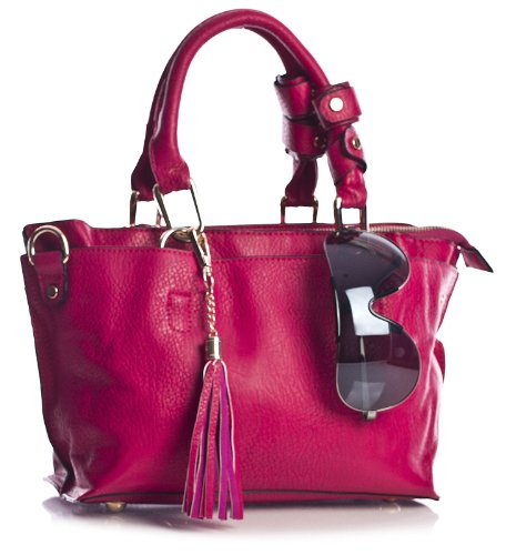 Big Handbag Shop - Bolso estilo cartera para mujer One Violeta