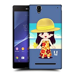 Head Case Designs Lorraine Chibi Summer Girls Hard Back Case Cover for Sony Xperia T2 Ultra Dual T2 Ultra