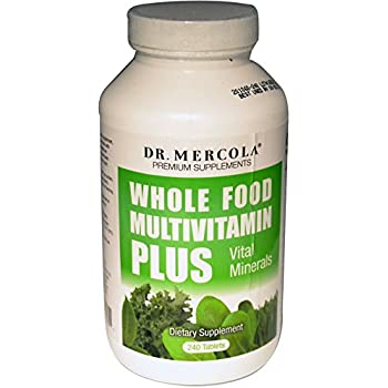 Dr. Mercola Premium Products Whole Food Multivitamin Plus Vital Minerals Tablets, 240 Count