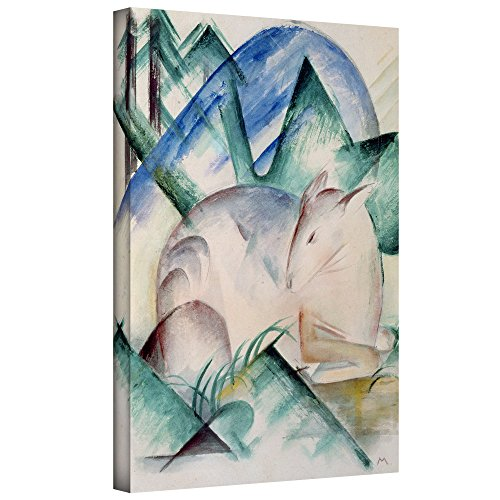 Franz Marc's Sleeping Deer, Gallery Wrapped canvas 18x24 Franz Marc Deer
