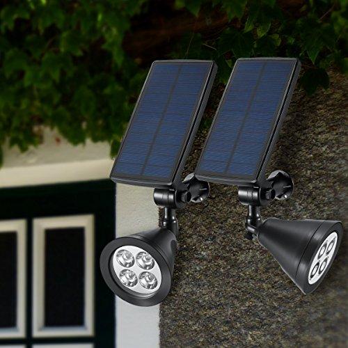 amir solar spotlights upgraded solar garden light outdoor 360 adjustable 4 led landscape lighting waterproof solar wall lights auto on off for yard