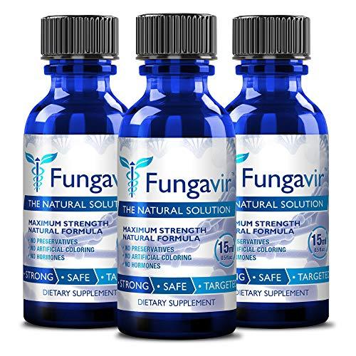 Fungavir - Anti-fungal Nail Treatment, Effective against nail fungus - Toenails & Fingernails Anti-fungal Nail Solution - Stops and Prevents Nail Fungus (3 bottles) ()
