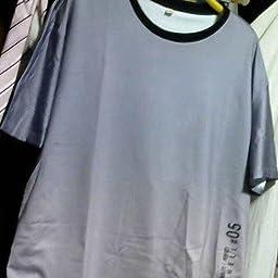 Amazon Tシャツ メンズ 夏服 メンズ カットソー 半袖 丸首 グラデーション ロングtシャツ 大きいサイズ ゆったり トップス 五分袖 ビッグtシャツ おしゃれ カジュアル 春 夏 浅灰 M Tシャツ カットソー 通販