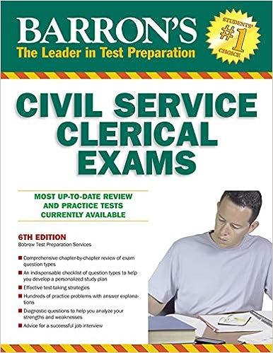 Barron S Civil Service Clerical Exam Barron S The Leader