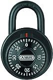 ABUS 78/50 KC 2-Inch Locker Dial Combination Padlock with Key Control, Black