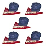 Little Train Engineer Party Costume Accessory Set for Children w/Hat, Whistle, Scarf (5 Sets)