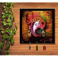 lilypin® Latest Ganesha_13 Desigen Year Gifts Printed Designe for Home Wall Decor Keychain Holder Hanger - Key Holder (12X12)