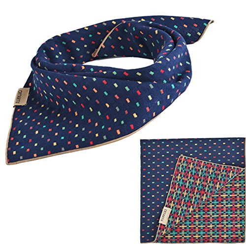 PUPTECK Pet Dog Cat Puppy Bandana Reversable Bibs Triangle Head Scarf Accessories (Pet Bandana)