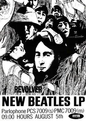(24x33) Beatles Revolver Album Cover Retro Musc Poster Print