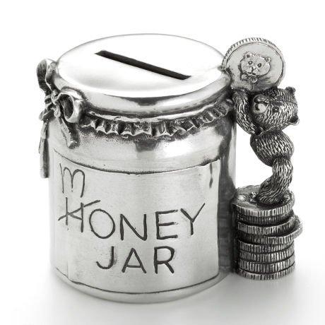 Royal Selangor 016502R Coinbox Money Jar, Pewter
