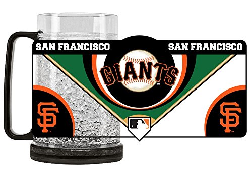 Duck House 1 Pc, San Francisco Giants Mug Crystal Freezer Style, 16oz, Eye Catching Crystals, State-Of-The-Art Refreezability With Color Coordinated Handle & Base