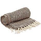 Best Benzara Beddings - Benzara Throw Blanket Dark Rich Brown & White Review