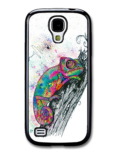 Trippy Colourful Chameleon Illustration Hipster Animal coque pour Samsung Galaxy S4 mini