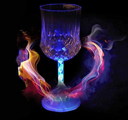 Led Light Up Flashing Wine Glasses - 5