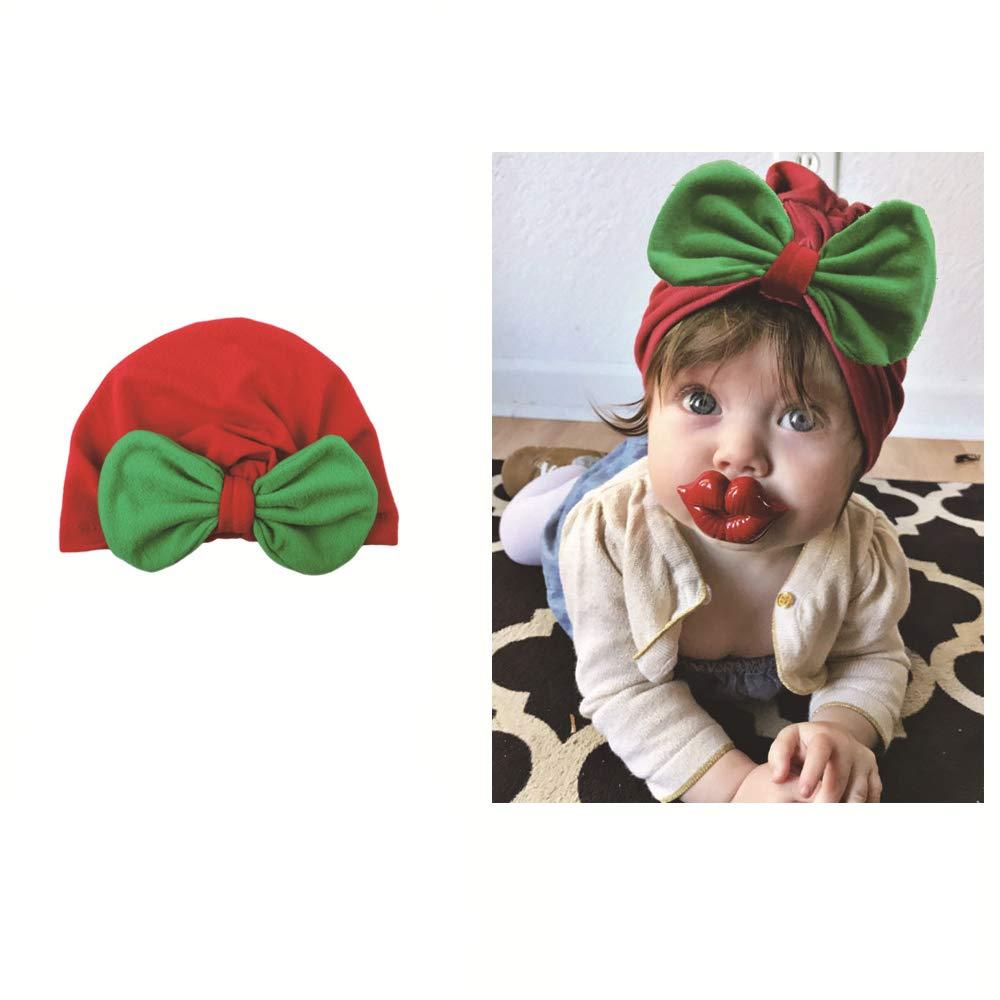 Navidad bebé corbata de moño sombrero bebé navidad gorra foto prop ...