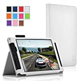 NVIDIA SHIELD Tablet K1 / NVIDIA SHIELD Tablet Case - Exact [PRO Series] NVIDIA SHIELD 8.0-Inch Case -[Professional][Drop Protection] Slim-Fit Folio Case for NVIDIA SHIELD Tablet K-1 (2015) / NVIDIA SHIELD Tablet (2014) White