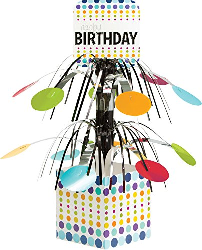 Creative Converting Birthday Pop! Centerpiece with Mini Cascade and Base, Multicolor by Creative Converting