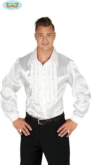 Guirca grafoplas Camisa de Raso de Hombre años 60, Color Blanco, Mediana, 88309: Amazon.es: Juguetes y juegos