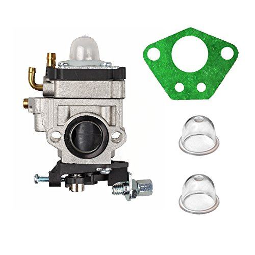 Savior 2 Stroke 15mm Carburetor with Gasket Primer Bulb for 40cc 43cc 49cc Gas Carb Bladez Keyang Scooter Hedge Trimmers Brush Cutters