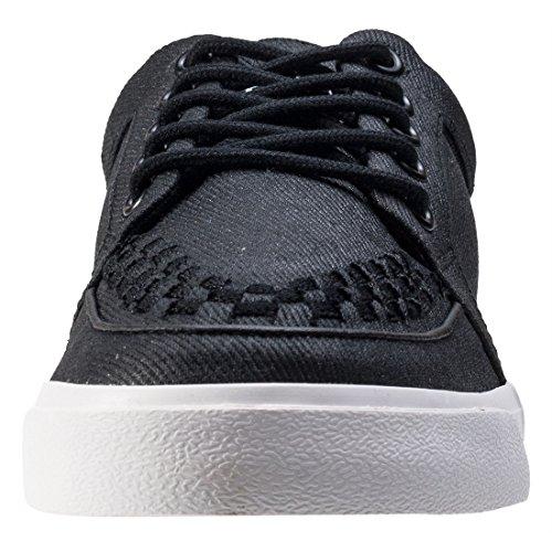 T.U.K Vlk No-ring Vulcanized Sneaker Herren Sneakers Black White