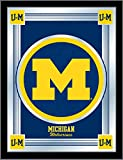 Holland Bar Stool Company NCAA Michigan Wolverines Logo Mirror, 17 X 22-Inch