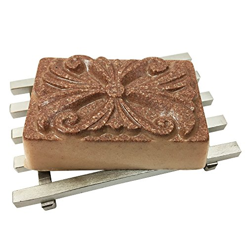 Rose Clay Unscented Organic Goats Milk Facial Soap - for normal, oily, dry, combination skin including mature and sensitive skin, rosacea, eczema, psoriasis by Bare Essentials Living -