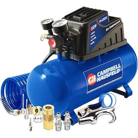 [해외]Campbell Hausfeld 3 갤런, 110psi 에어 컴프레서 & amp; /Campbell Hausfeld 3 Gallon, 110psi Air Compressor & 11pc Accessory