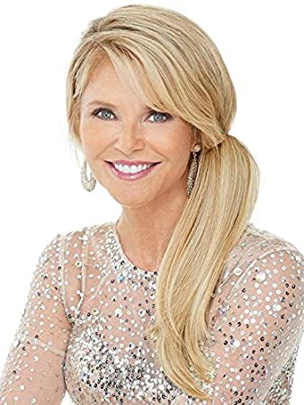 "8c332deb3be5 Clip In Pony Color HT22 Platinum Blonde - Christie Brinkley 12.5"" Long  Heat Friendly Ponytail"