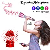 Microphone for Kids - Portable Wireless Microphone Karaoke with Bluetooth Speakers for Music Playing and Singing Anytime Anywhere - Support...