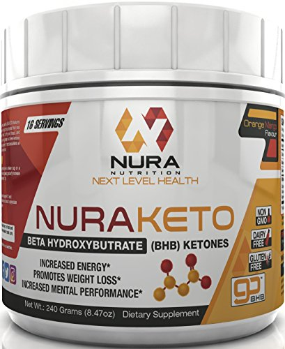 BHB Ketone Salts, Orange Mango, 240g - Beta Hydroxybutyrate Exogenous Ketones - Great for the Keto Diet- Helps Achieve Perfect Ketosis, More Energy, Focus and Burn Fat